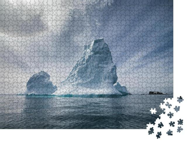 """Puzzle 1000 Teile """"Antarktis und Eisberglandschaften, Polarregionen der Erde"""""""
