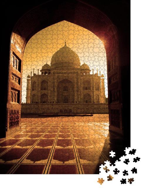"""Puzzle 1000 Teile """"Taj Mahal im Sonnenlicht, Torbogen"""""""