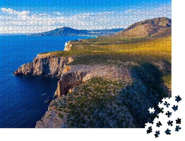 """Puzzle 1000 Teile """"Insel Sardinien, westliche zerklüftete Mittelmeerküste, Italien"""""""