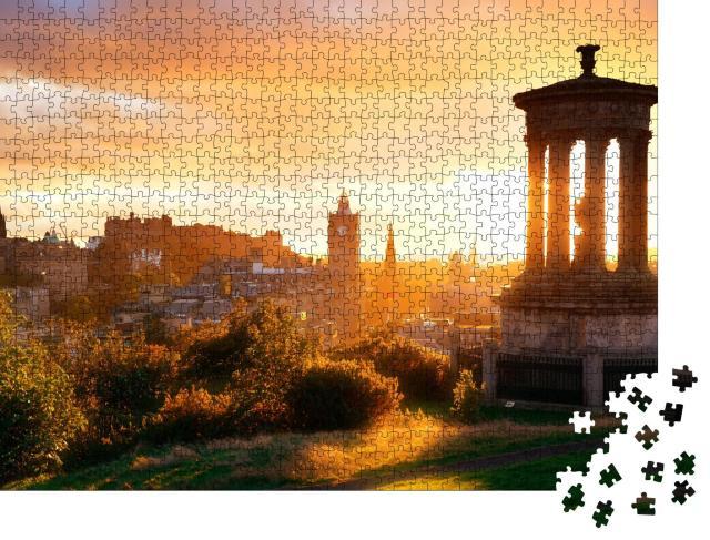 """Puzzle 1000 Teile """"Skyline von Edinburgh im Morgenlicht, Schottland"""""""