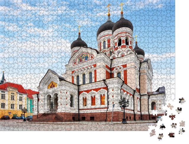 """Puzzle 1000 Teile """"Alexander-Newski-Kathedrale in der Altstadt von Tallinn, Estland"""""""