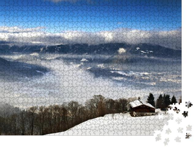 """Puzzle 1000 Teile """"Blick auf die Bayerischen Alpen, Deutschland"""""""