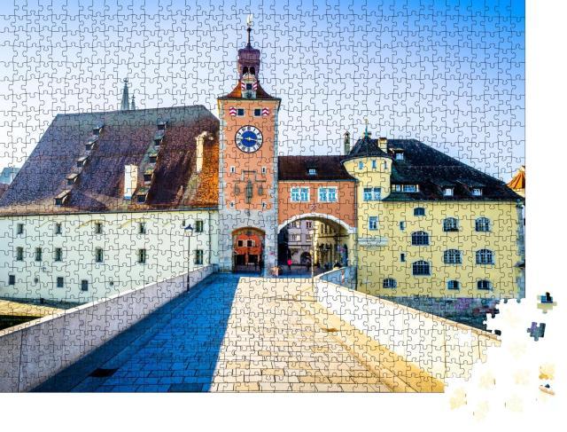 """Puzzle 1000 Teile """"Altstadt von Regenburg in Bayern, Deutschland"""""""