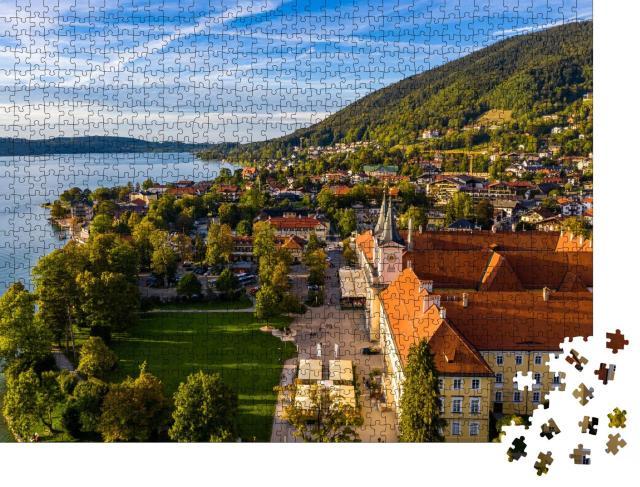 """Puzzle 1000 Teile """"Malerischer Tegernsee in Bayern"""""""