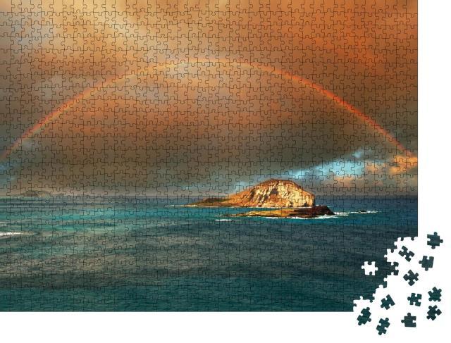 """Puzzle 1000 Teile """"Regenbogen auf der Insel Hawaii"""""""