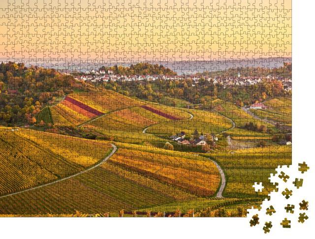 """Puzzle 1000 Teile """"Weinberge in Stuttgart, Deutschland"""""""