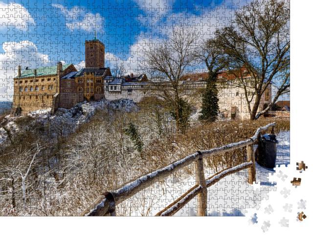 """Puzzle 1000 Teile """"Die Wartburg bei Eisenach im Thüringer Wald"""""""