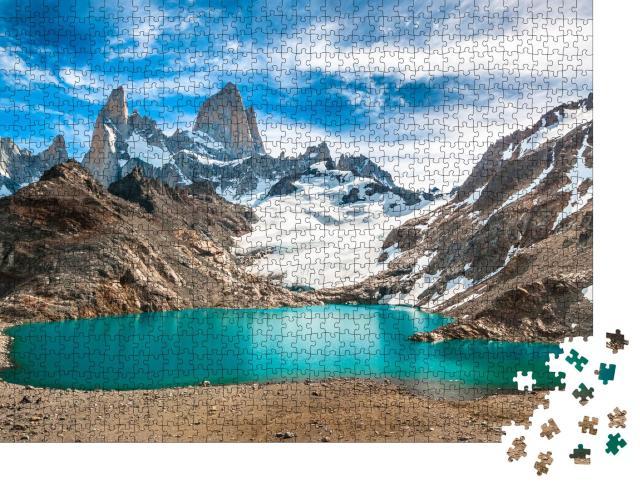 """Puzzle 1000 Teile """"Berg Fitz Roy und Laguna de los Tres, Patagonien, Argentinien"""""""