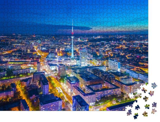 """Puzzle 1000 Teile """"Berlin bei Nacht"""""""
