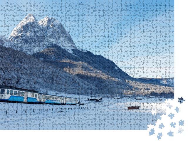 """Puzzle 1000 Teile """"Zugspitz-Zahnradbahn in der Nähe von Garmisch-Partenkirchen, Bayern"""""""