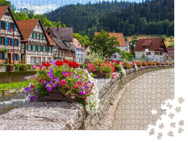 """Puzzle 1000 Teile """"Wunderschönes Schiltach im Schwarzwald, Deutschland"""""""