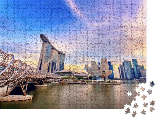 """Puzzle 1000 Teile """"Architektur in Singapur"""""""