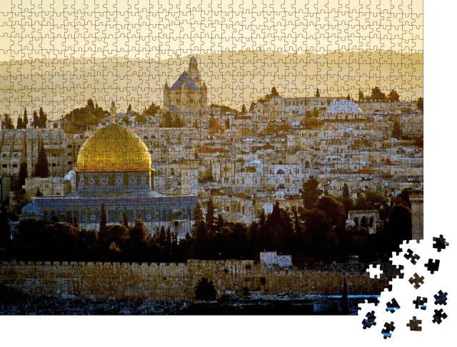 """Puzzle 1000 Teile """"Die Altstadt von Jerusalem im Abendlicht"""""""