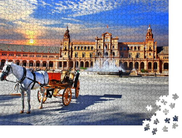 """Puzzle 1000 Teile """"Piazza Espana in Sevilla, Andalusien, Spanien"""""""