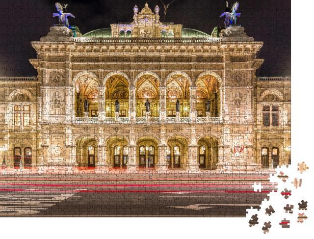 """Puzzle 1000 Teile """"Wiener Staatsoper bei Nacht, Wien, Österreich"""""""