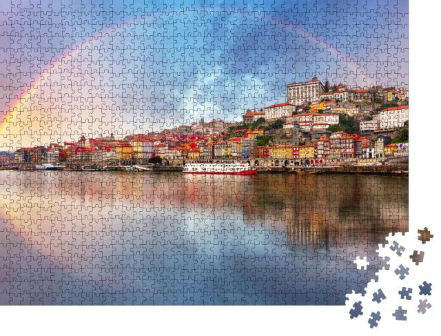 """Puzzle 1000 Teile """"Regenbogen über Porto, Portugal"""""""