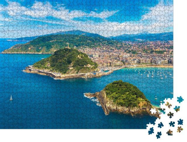 "Puzzle 1000 Teile ""Panoramablick auf San Sebastian, Spanien"""