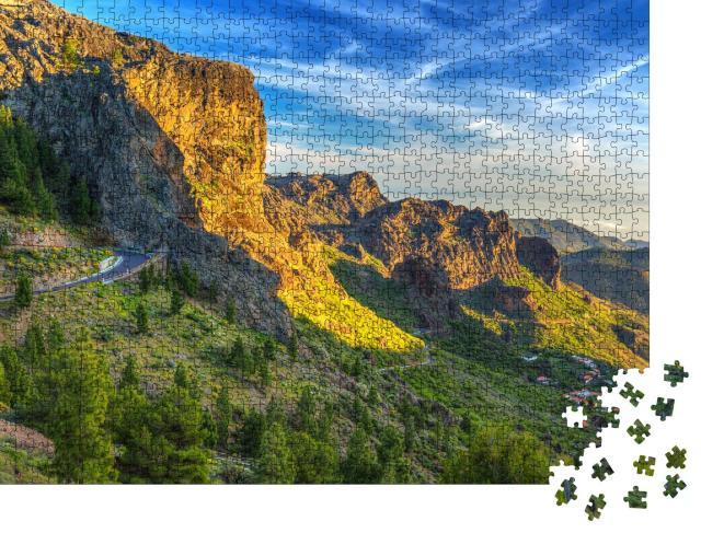 "Puzzle 1000 Teile ""Berge der Insel Gran Canaria, Spanien"""