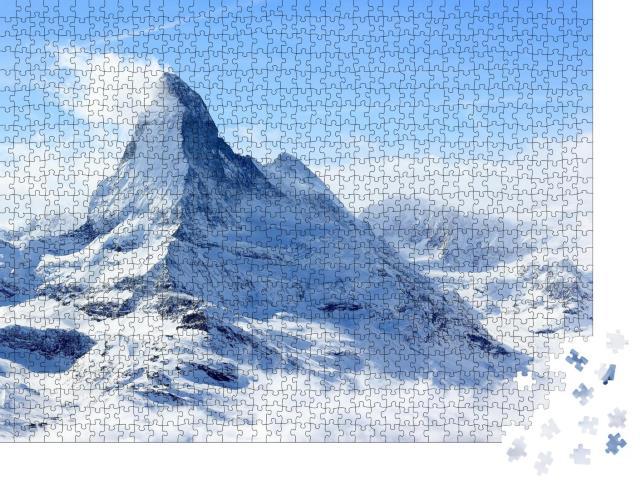 """Puzzle 1000 Teile """"Winterliches Matterhorn im Nebel"""""""