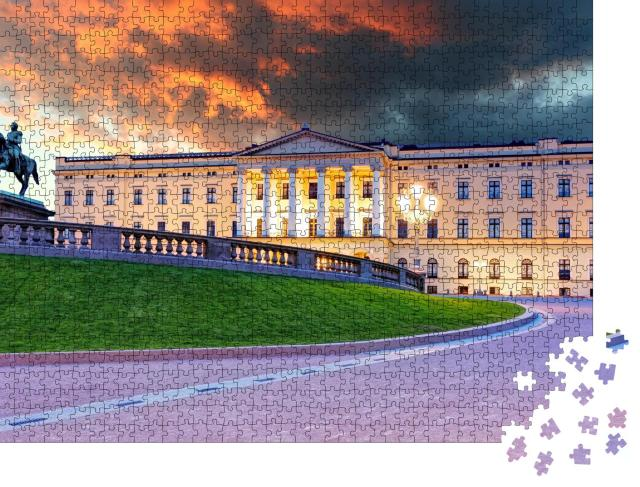 """Puzzle 1000 Teile """"Königlicher Palast, Oslo, Norwegen"""""""