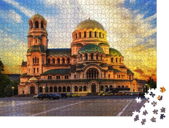 """Puzzle 1000 Teile """"Blick auf die Alexander-Newski-Kathedrale in Sofia, Bulgarien"""""""