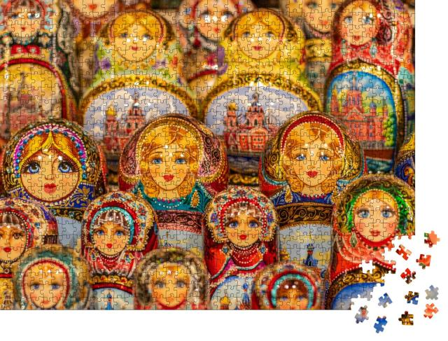 "Puzzle 1000 Teile ""Matroschka-Puppen, Russland"""