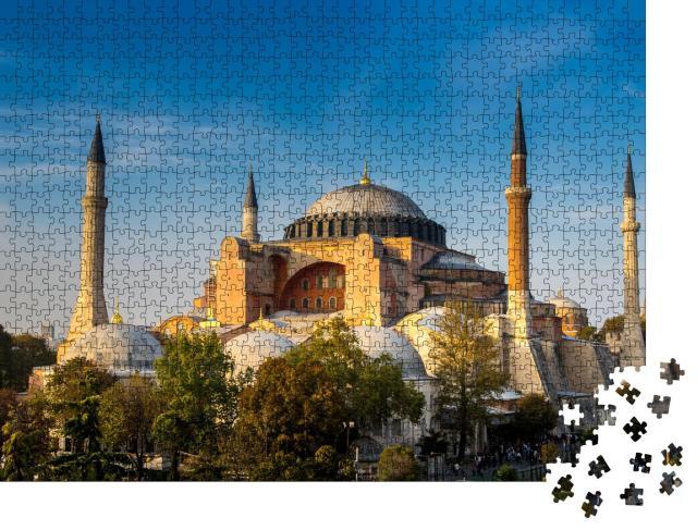 """Puzzle 1000 Teile """"Wunderschöne Hagia Sofia, das berühmte Wahrzeichen von Istanbul"""""""
