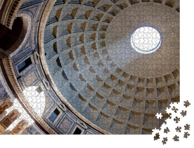 """Puzzle 1000 Teile """"Der Lichtstrahl im Inneren des Pantheons in Rom"""""""
