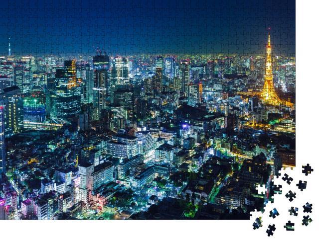 """Puzzle 1000 Teile """"Skyline von Tokio bei Nacht"""""""