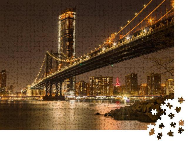 """Puzzle 1000 Teile """"Sonnenuntergang über Manhattan"""""""