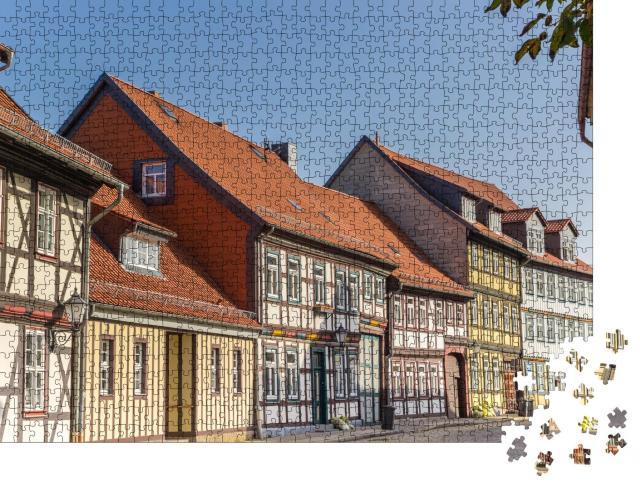"""Puzzle 1000 Teile """"Fachwerkhäuser in Wernigerode, Deutschland"""""""