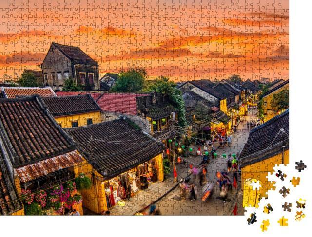 """Puzzle 1000 Teile """"Aussicht auf Hoi An, die alte Stadt in Vietnam"""""""