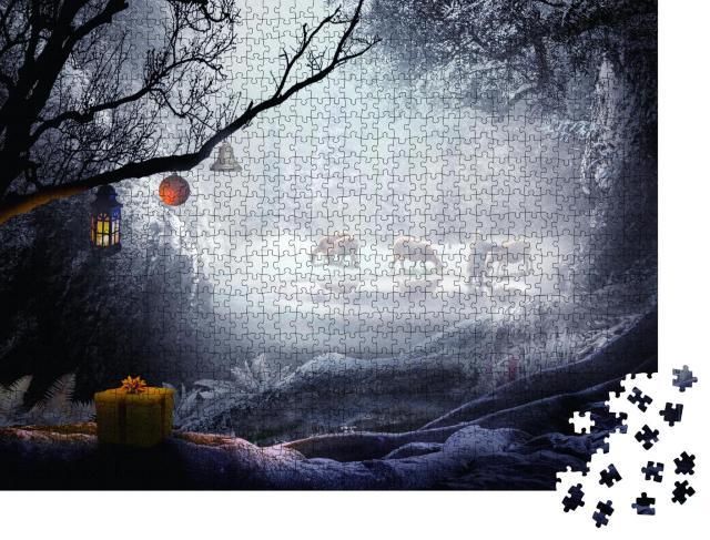 """Puzzle 1000 Teile """"Hirte im Weihnachtswald"""""""