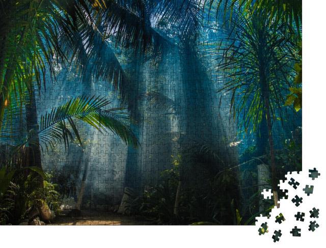 """Puzzle 1000 Teile """"Morgenlicht im schönen Dschungelgarten"""""""