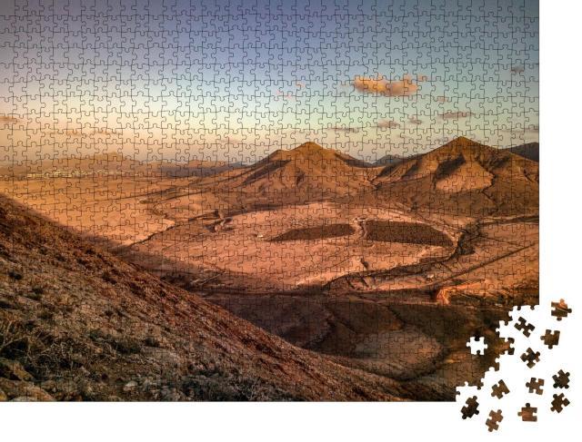 """Puzzle 1000 Teile """"Vulkane auf Fuerteventura, Kanarische Inseln"""""""