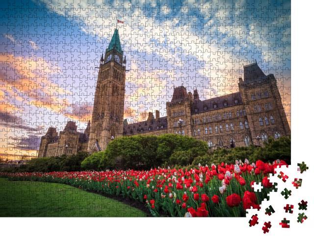 """Puzzle 1000 Teile """"Kanadisches Parlamentsgebäude in Ottawa"""""""