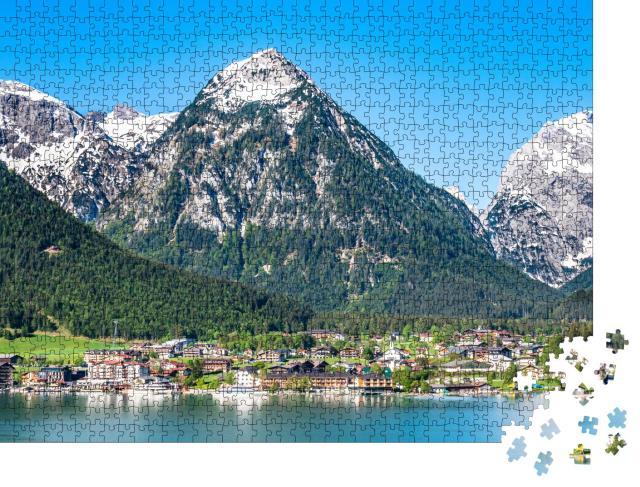"""Puzzle 1000 Teile """"Bergpanorama über Pertisau am Achensee, Österreich"""""""