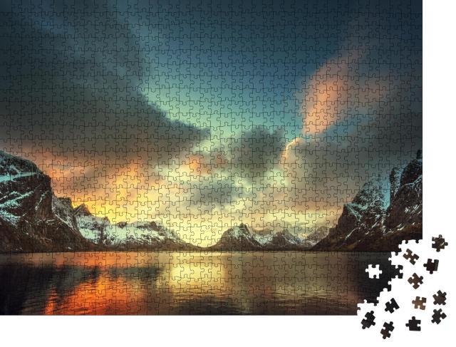 """Puzzle 1000 Teile """"Inseln der Lofoten, Norwegen"""""""