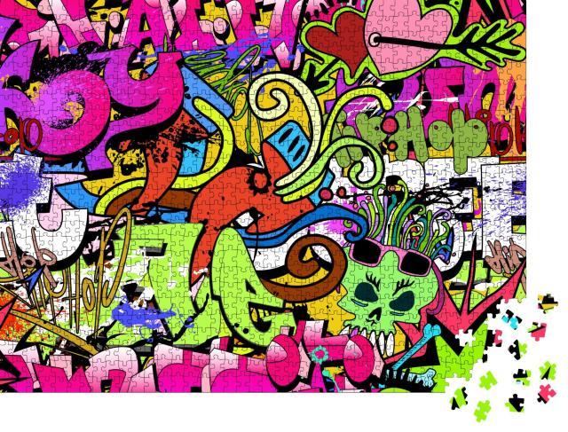 """Puzzle 1000 Teile """"Graffiti Kunst"""""""