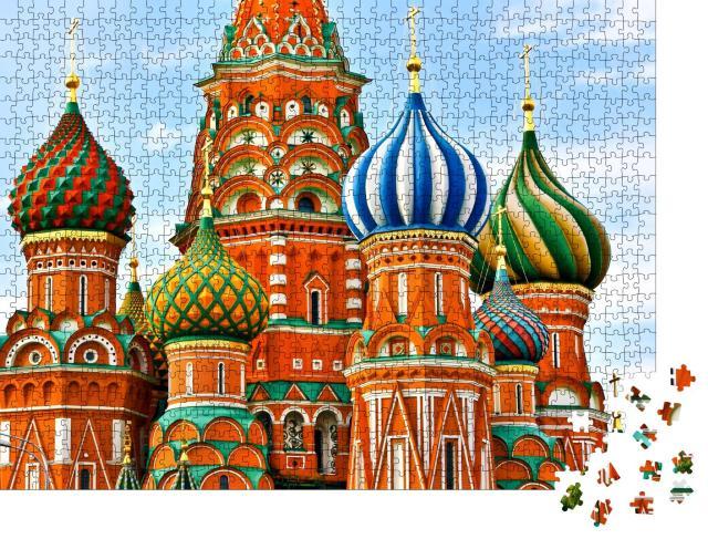 """Puzzle 1000 Teile """"Kathedrale auf dem Roten Platz in Moskau"""""""
