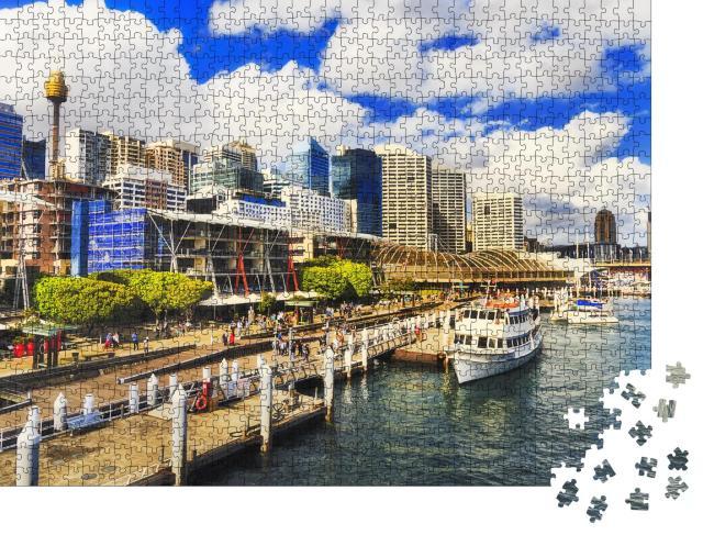 """Puzzle 1000 Teile """"Die Promenade Harbour Kings Wharf in Sydney, Australien"""""""