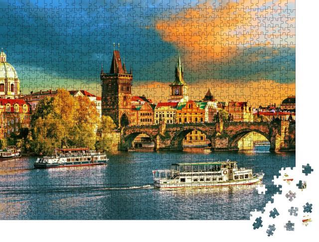"""Puzzle 1000 Teile """"Prag an der Moldau, Tschechien"""""""