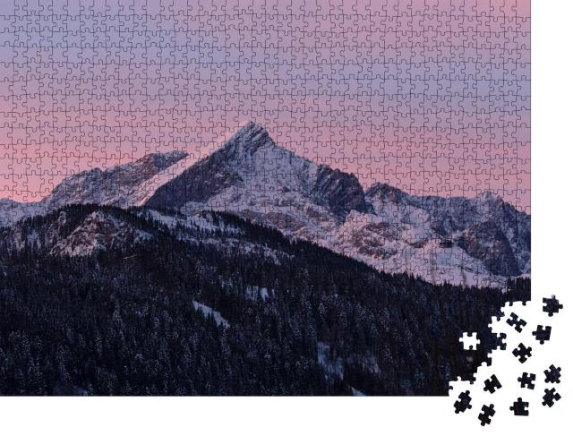 """Puzzle 1000 Teile """"Alpspitze, einer der berühmten Berggipfel Deutschlands"""""""