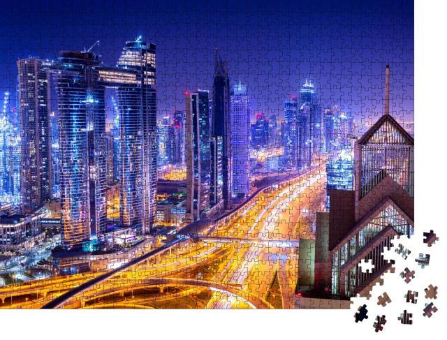 "Puzzle 1000 Teile ""Downtown Dubai bei Nacht"""