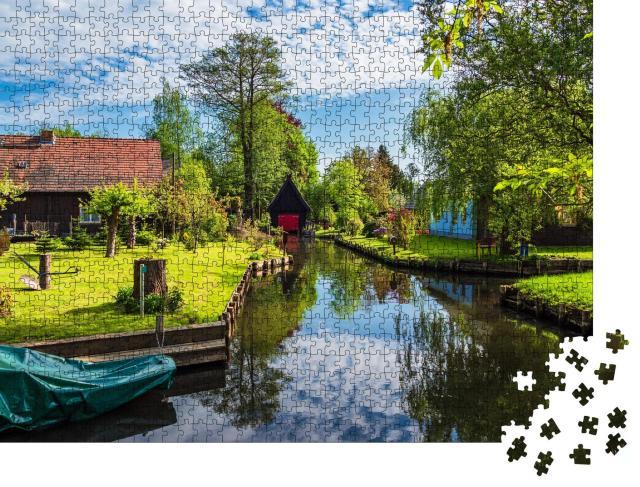 """Puzzle 1000 Teile """"Alte Katen im Spreewald, Deutschland"""""""