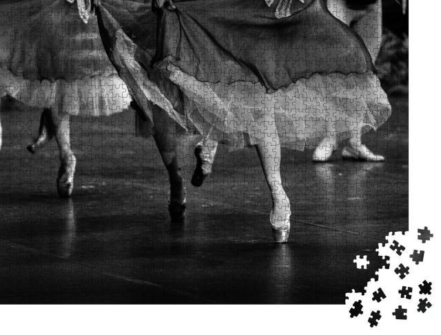 """Puzzle 1000 Teile """"Schwanensee-Ballett, schwarz-weiß"""""""