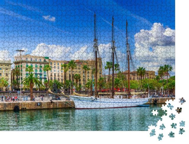"""Puzzle 1000 Teile """"Hafen von Barcelona, Spanien"""""""