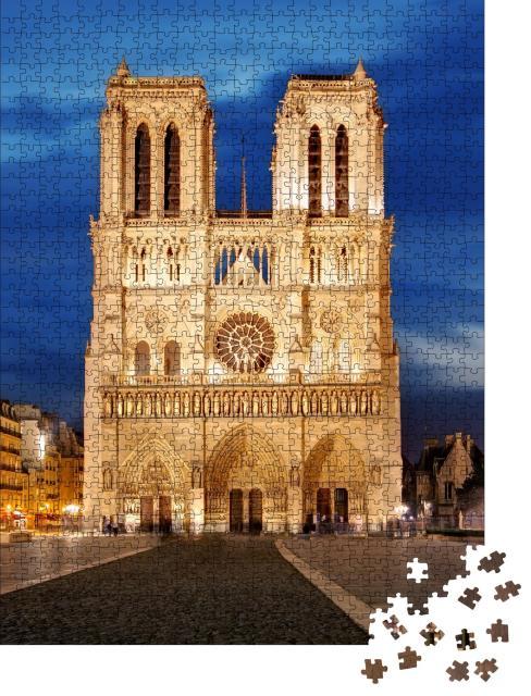 """Puzzle 1000 Teile """"Notre Dame, Wahreichen von Paris, Frankreich"""""""