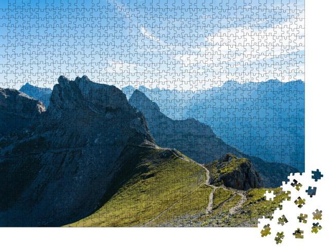 """Puzzle 1000 Teile """"Wildes Karwendelgebirge, Deutschland"""""""