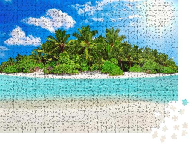 """Puzzle 1000 Teile """"Tropische Insel eines Atolls im Indischen Ozean"""""""